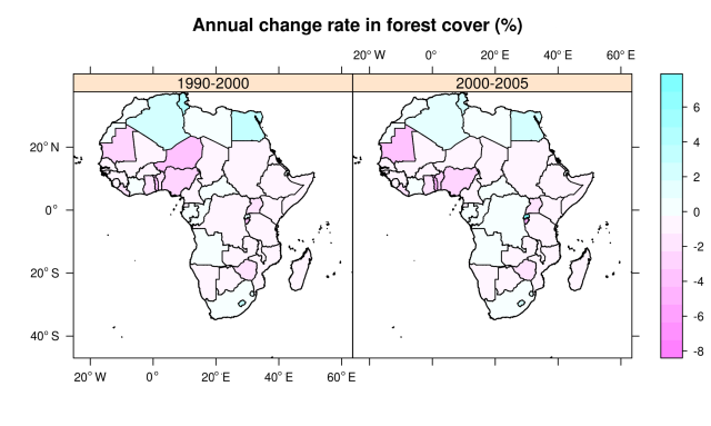Deforestation rates in Africa (version 1)