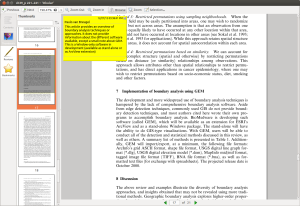 Pdf file opened in Okular, with some annotations (comment and underlined text)